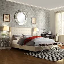 Roma Tufted Wingback Headboard Taupe Fullqueen by Upholstered King Wingback Bed Modern King Beds Design