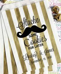 personalized favor bags personalized favor bags stache some cookies for later bakers bling