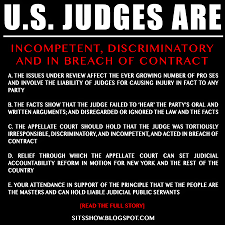 Contract Law Meme - u s judges are incompetent discriminatory and in breach of
