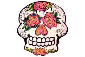 sugar skull clipart cartoon pencil and in color sugar skull