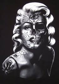 marilyn monroe skull tattoo tattoo fantastic