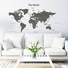 world map with country names contemporary wall decal sticker world map wall decal vinyl wall removable