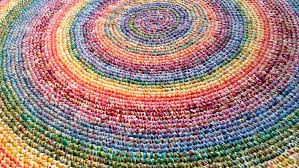 Round Kids Rug by Rugs Round Rainbow Rug For Funky Floor Idea