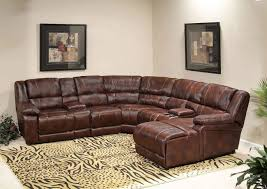 Brown Leather Sofa With Chaise Best Leather Sectional Sofa With Recliner Photos Liltigertoo