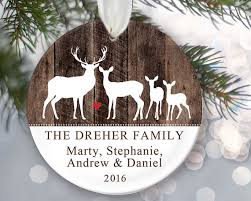 deer family of four ornament deer ornament personalized