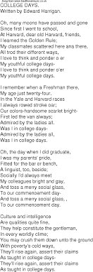time song lyrics for 03 college days