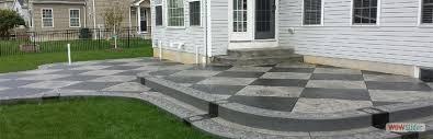 stamped concrete patio custom concrete patio wny buffalo ny