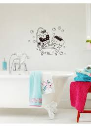 stickers model picture more detailed picture about cute shower cute shower room decal cartoon rabbit elephant bubble bath bathroom stickers home decor free shipping k12