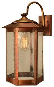 Copper Outdoor Lighting Fixtures Baja Mission Style Copper Outdoor Lantern