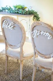 and groom chair covers groom chair signs wood white script wedding and reception