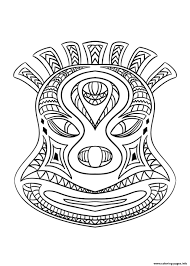 african mask 2 coloring pages printable