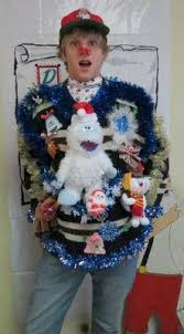 Light Up Animated Singing Bumble Ugly Christmas Sweater Jumper Mens