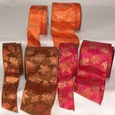 fall ribbon wire edge fall maple ribbon fall ribbon