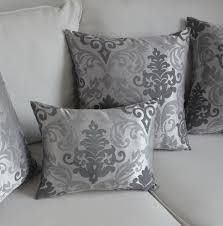 housse pour coussin de canapé housse de coussin de style baroque argent taie d oreiller pour