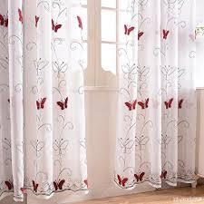 voilage cuisine finel rideaux voilages brodés papillons pour salon chambre cuisine