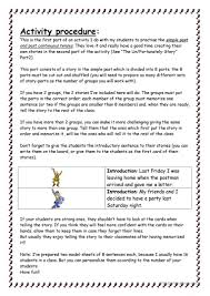 past simple and continuous the un fortunately story worksheet