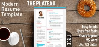 resume template modern the plateau modern resume template