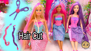 3 endless hair kingdom barbie dolls get clip extenstions and hair