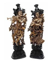 metal brass handmade handicrafts lord radha krishna statue for