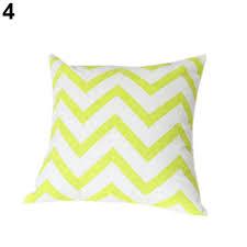 ripple chevron zig wave linen cushion cover home decor throw