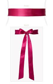 satin sash smooth satin sash slim fuchsia pink maternity wedding dresses