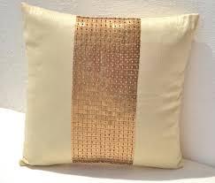 shop for handmade gold silk throw pillow cover