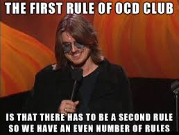 the first rule of ocd club memes pinterest ocd humor and