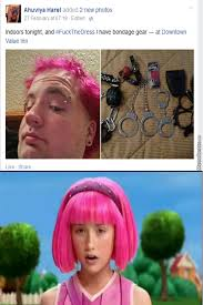 Weird Girl Meme - man this guy is so weird even that girl from lazy town is shocked