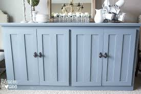 dining room buffet stand to buffet table makeover