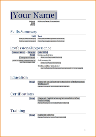 resume template cv free microsoft word format in ms with