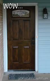 Painting Exterior Door Painting A White Door To Look Like Wood I Should Definately Try