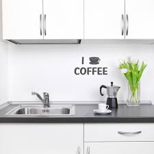 i love coffee wall quote decal