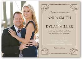 photo wedding invitations classic swirls 5x7 wedding invitations shutterfly
