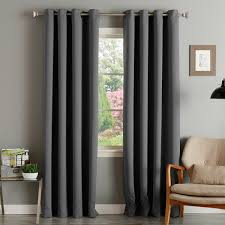 Home Essentials Curtains Aurora Home Thermal Insulated Blackout Grommet Top 84 Inch Curtain