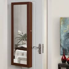 jewelry armoire full length mirror inspired home co michelle full length over the door wall mounted
