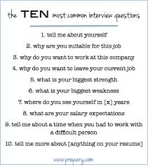 Resume Job Interview Example by How To Answer The Most Common Interview Questions The Prepary