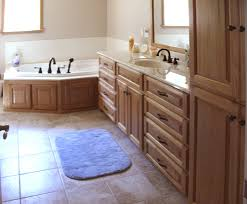 Corner Vanity Cabinet Bathroom Bathroom Hickory Bathroom Vanity For Durability And Moisture