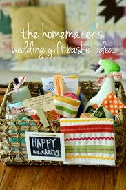 Wedding Gift Baskets Natalie Creates The Homemaker U0027s Wedding Gift Basket Idea For