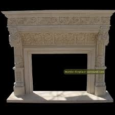antique fireplace surround acanthus sculptural