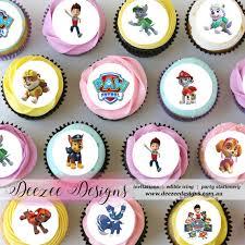 paw patrol mini edible icing cupcake toppers 1 5