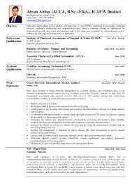 Internal Audit Job Description For Resume Ahsan Abbas Acca Bsc Icaew Resume