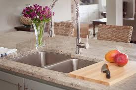kitchen granite countertops and kitchen sink with menards garbage