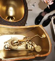 you can buy a louis vuitton wrapped gold toilet for a little over