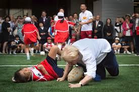 boris flattens schoolboy in rugby match u2013 the sun