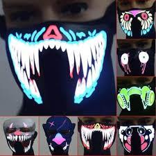Fire Helmet Lights Halloween Led Masks Clothing Big Terror Masks Cold Light Helmet