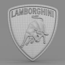 3d Model Lamborghini Logo 2 Cgtrader