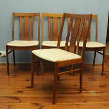 swedish teak chairs with beige upholstery 1960s set of 4 for