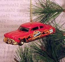 hudson hornet race car w flames ornament ebay