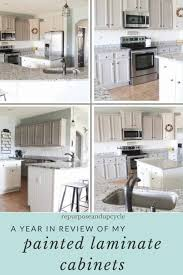 does paint last on kitchen cabinets a year in review of how i painted my laminate cabinets with