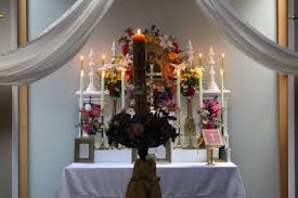 Easter Sunday Altar Decorations by Transalpine Redemptorists At Home April 2013